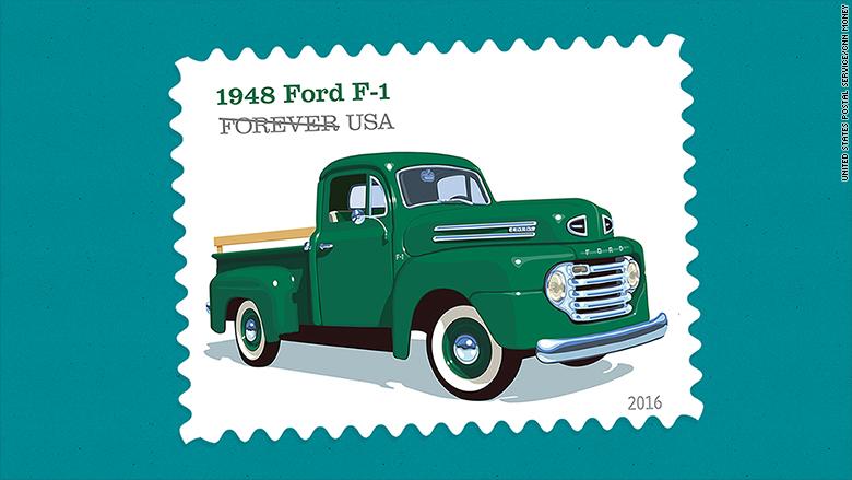 retro truck stamps 1948