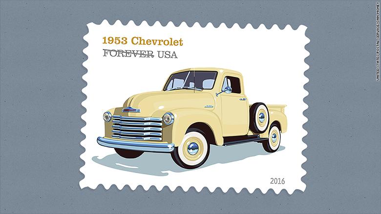 retro truck stamps 1953