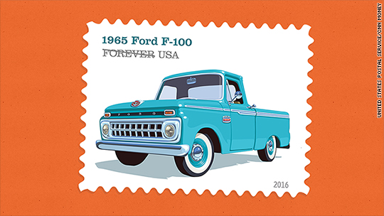 Pickup trucks honored on postage stamps