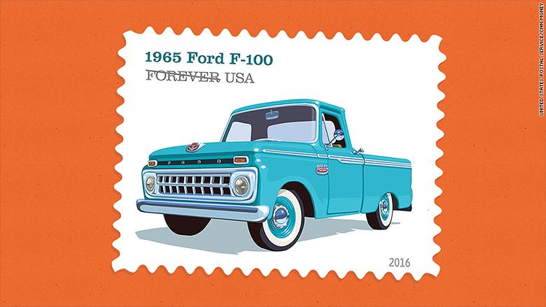 retro truck stamps 1965