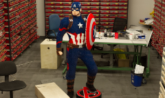 How LEGO built a life-size Captain America for Comic Con