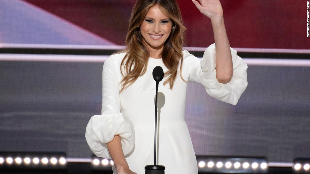 Speechwriter takes blame for Melania Trump's speech