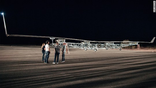 Facebook's giant internet drone takes flight