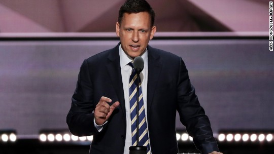 Thiel disrupts Silicon Valley with RNC speech