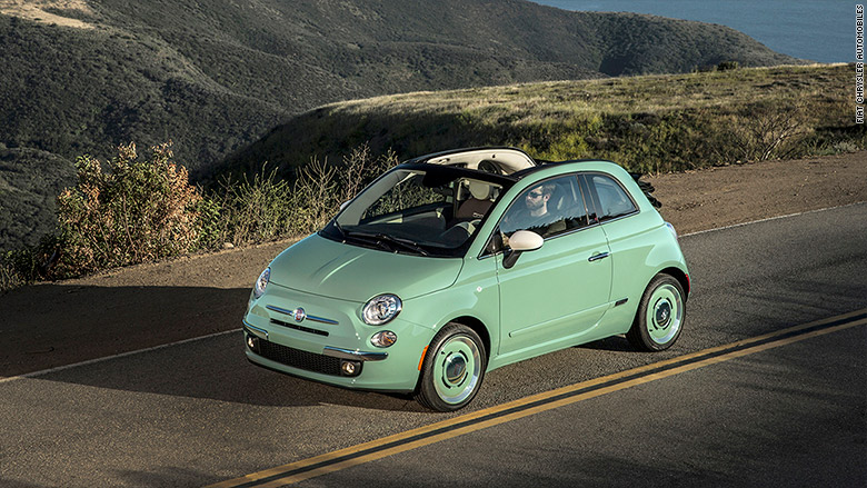 fiat 500 great looking cars on a budget cnnmoney. Black Bedroom Furniture Sets. Home Design Ideas