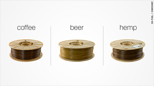 Using beer, coffee and hemp for 3D printing