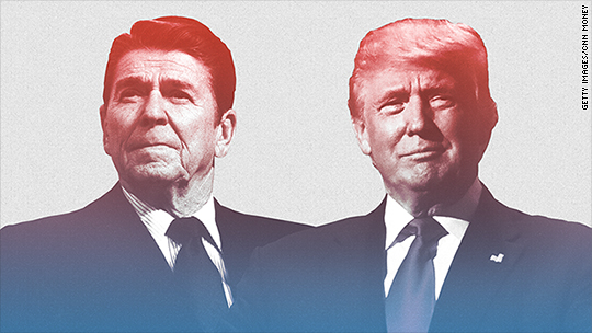 Trump praises Reagan on trade -- but saw it differently in 1989
