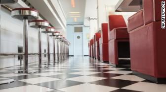 empty diner restaurant
