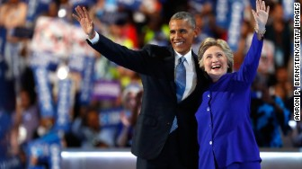 Obama Clinton DNC