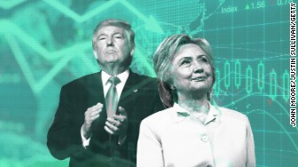 trump clinton stock market