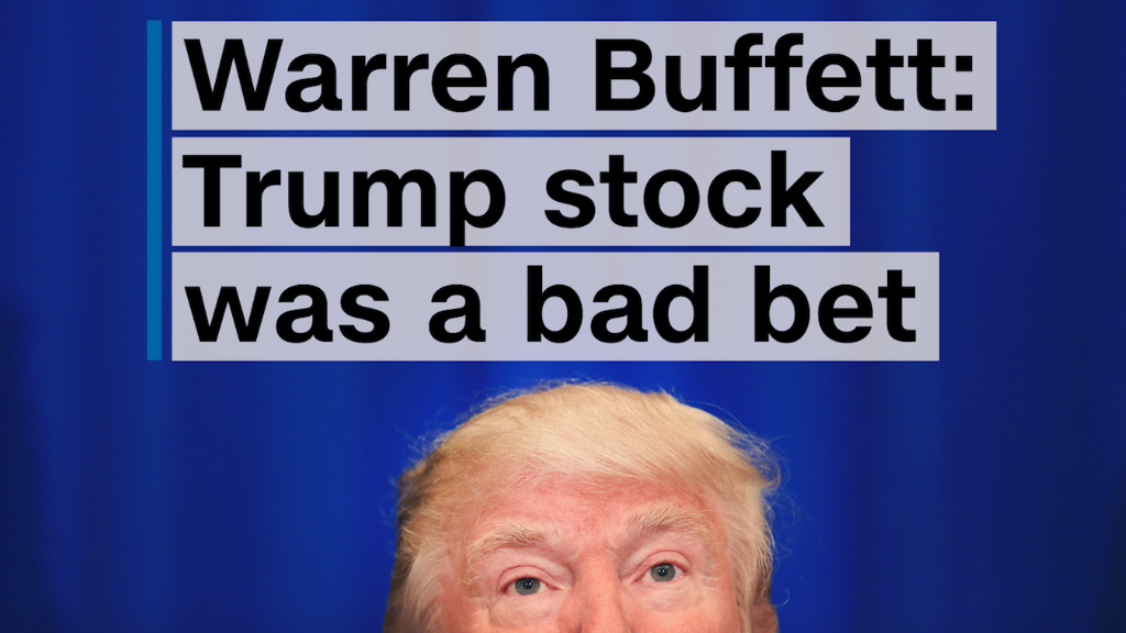 Warren Buffett: Trump stock was a bad bet