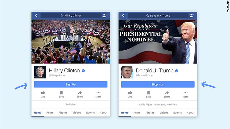 clinton trump facebook