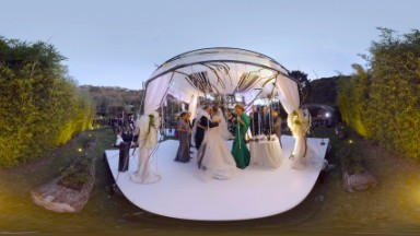 Here comes the ... virtual reality wedding. Couple preserves memories in VR