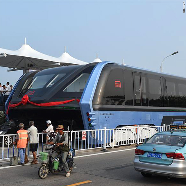 China's famous elevated bus is now just a giant roadblock