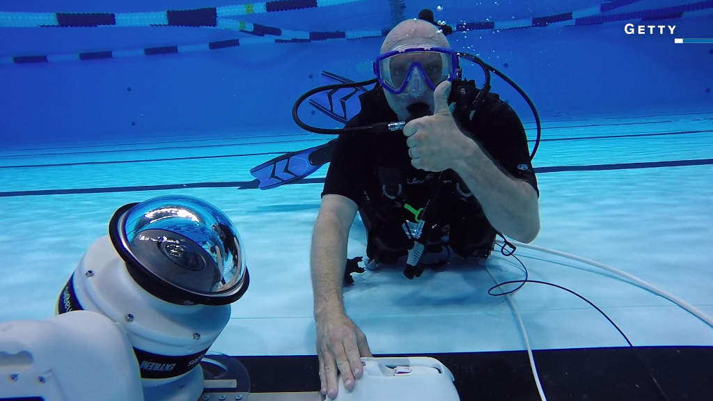 getting the perfect olympics shot with underwater robots - Olympic Swimming Pool Underwater