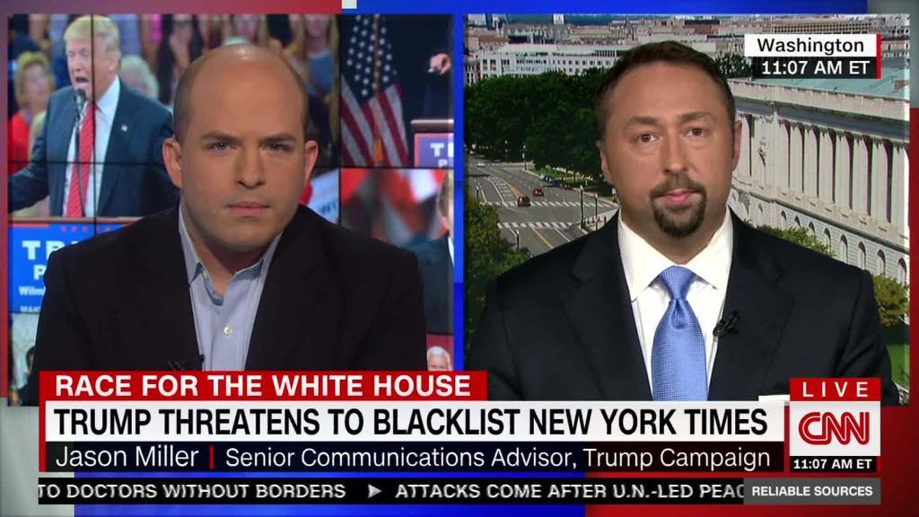 Trump debate holding aim during media bias