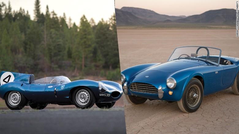 shelby cobra jaguar dtype record auction sale