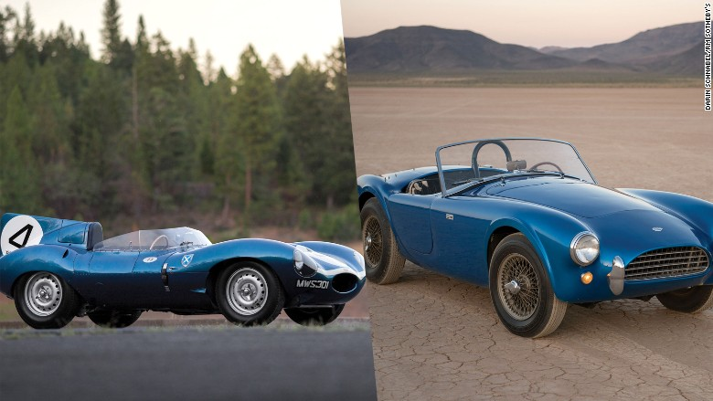 shelby cobra jaguar dtype record auction sale 2