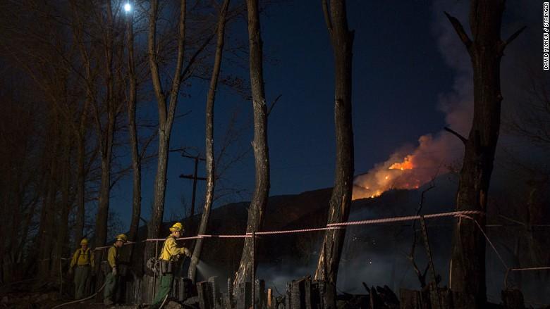 blue cut california firefighters