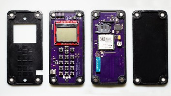 This cell phone assembles itself