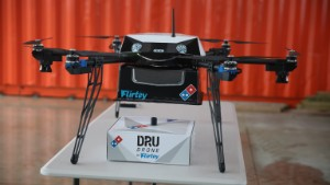 Domino's delivers by drone