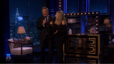 Barbra Streisand performs on 'The Tonight Show'