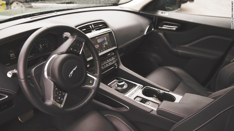 2017 jaguar f-pace interior steering wheel
