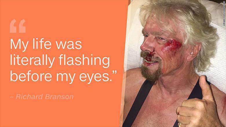 richard branson bike injury quote