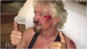 Richard Branson bike crash