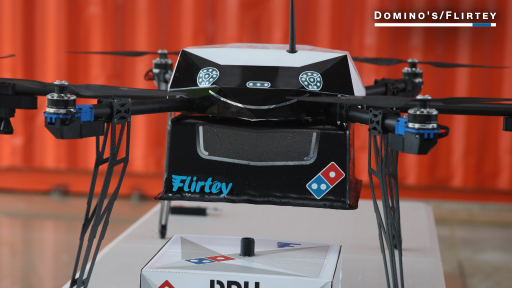 See Domino's inaugural pizza drone delivery test