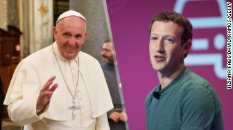 mark zuckerberg pope francis