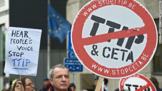 Top German official: EU-U.S. free trade talks have failed