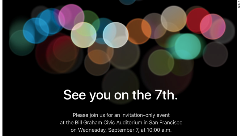 Apple iPhone Event Set for September 7