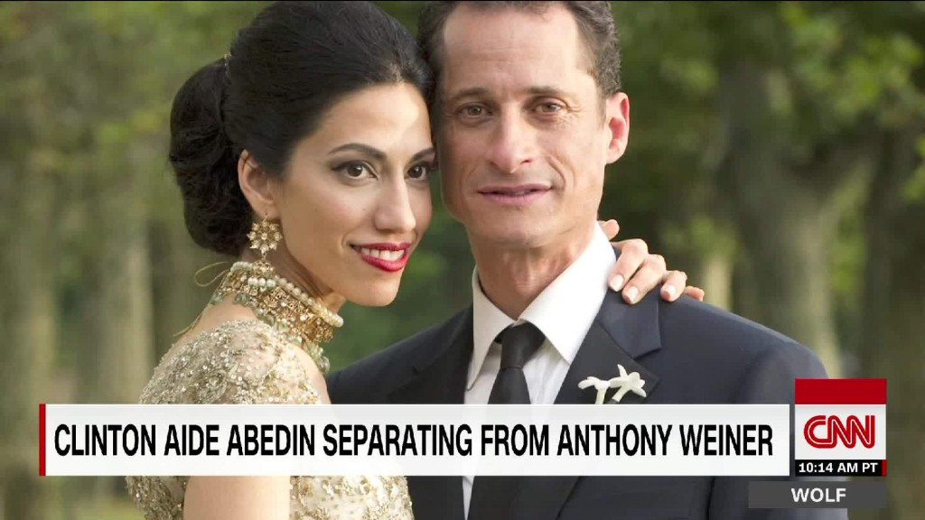 Huma Abedin seperates from Anthony Weiner after new sexting scandal