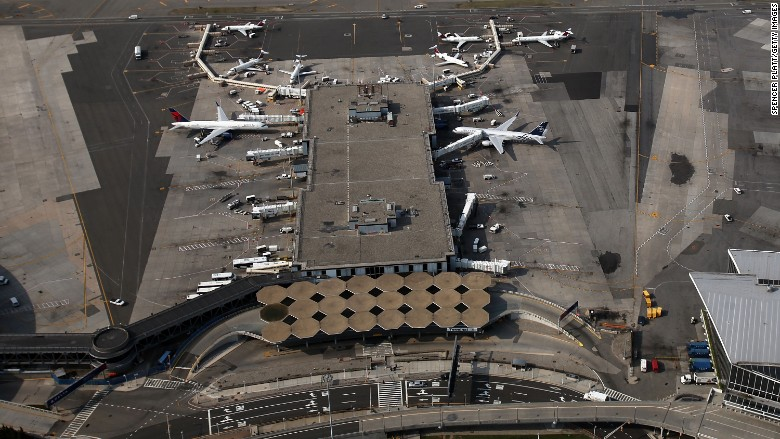 JFK airport aerial view