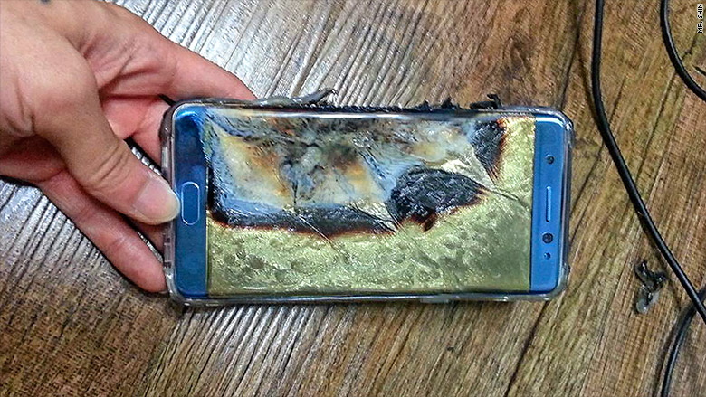 samsung galaxy note 7 fire