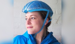 This foldable bike helmet is made from paper