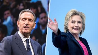 Starbucks CEO Howard Schultz endorses Hillary Clinton