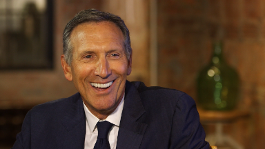 Starbucks CEO Schultz on a presidential run: 'Never say never'