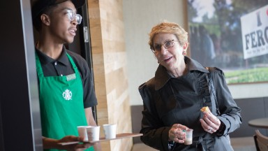 Starbucks CEO: Ferguson store is a success