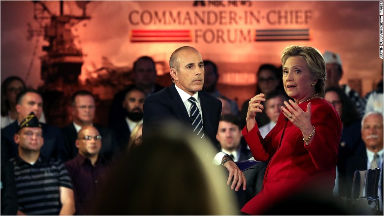 matt lauer commander-in-chief forum