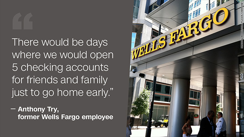wells fargo fake account employee