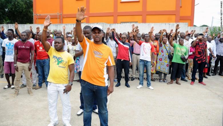 gabon protest opposition