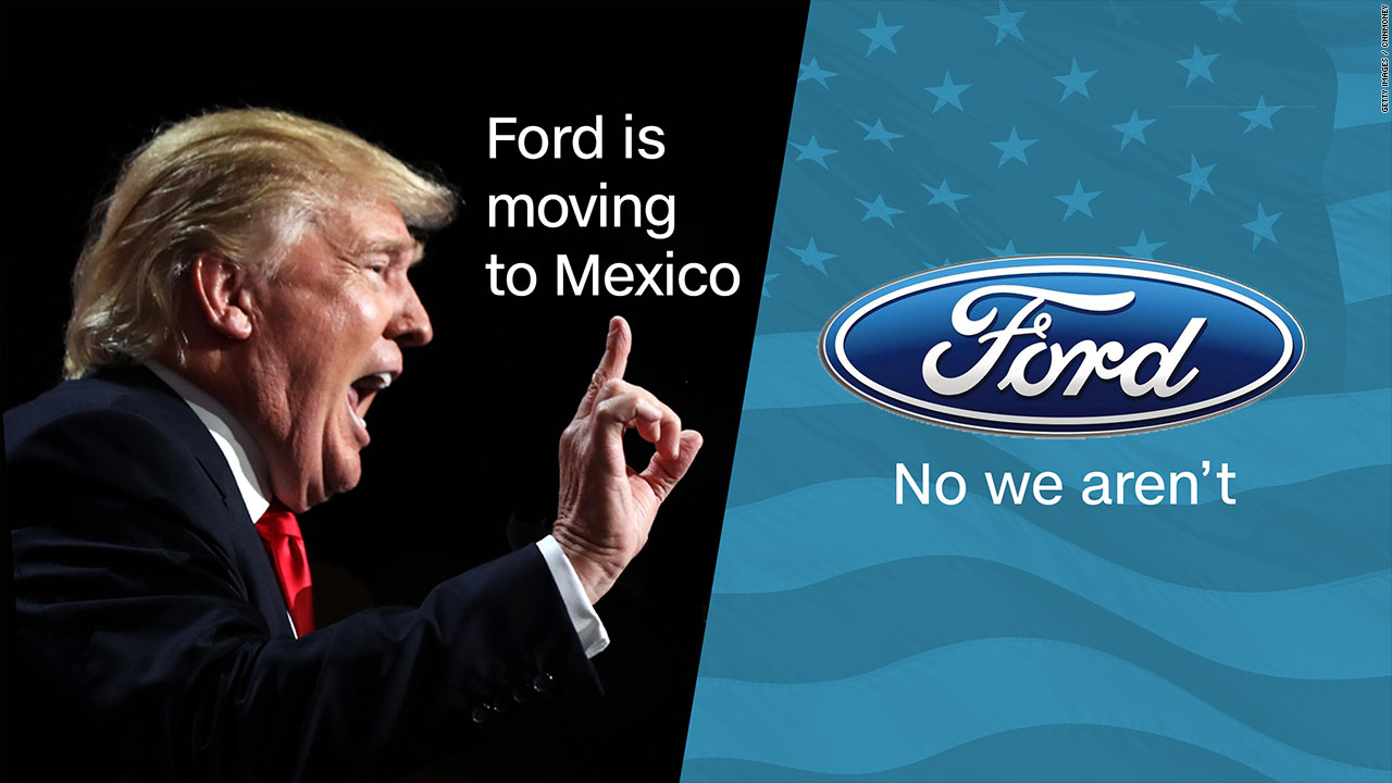 Donald Trump takes aim at Ford after the automaker announced it would ...