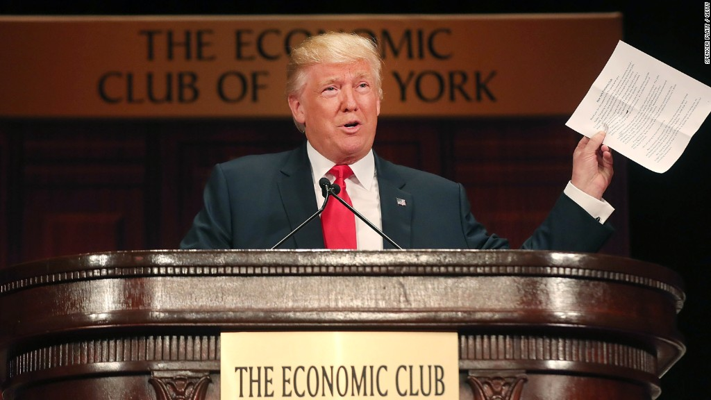Trump vows at least 3.5% economic growth