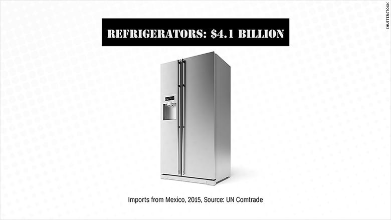 mexican imports refrigerators