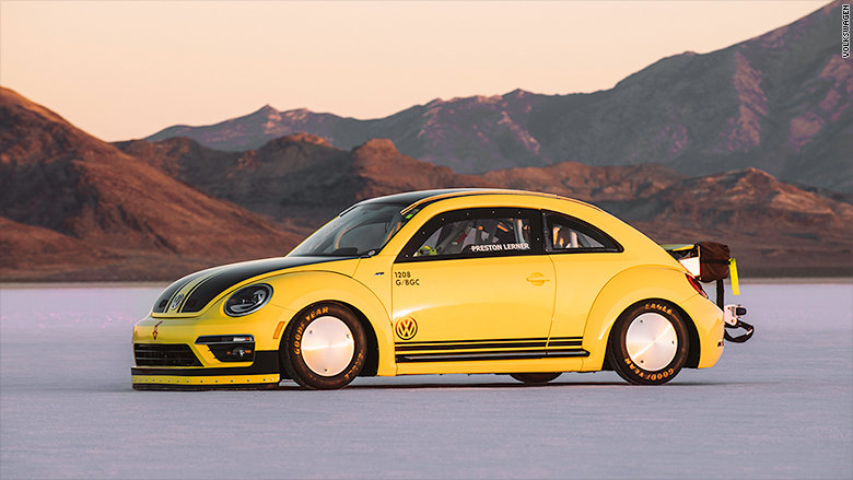 World's fastest VW Beetle goes 205 MPH