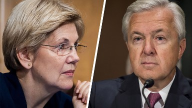 Elizabeth Warren is still furious with Wells Fargo boss
