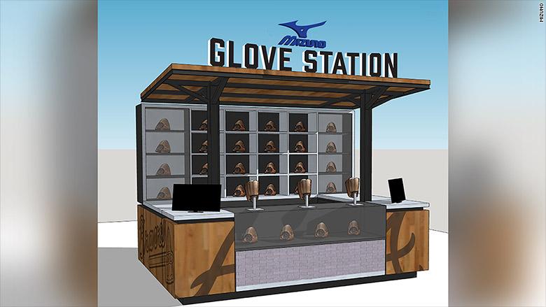 baseball glove kiosk