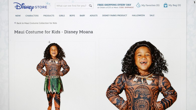Disney pulls costume lambasted as 'Polyface'